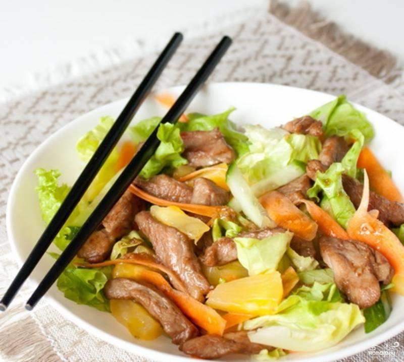Салат из свинины