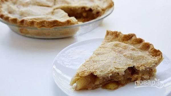 9. Я рекомендую подавать пирог через 1.5-2 часа после готовности. Приятного аппетита!