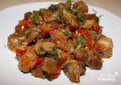 Овощи со свининой
