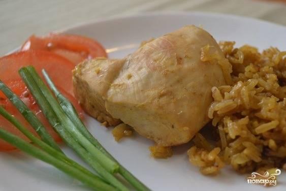 Курица по-тайски с рисом