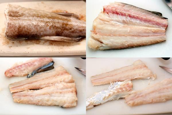 1. Первым делом нужно вымыть рыбу, очистить и отделить филе. Плавники и хребет станут отличной основой для бульона.