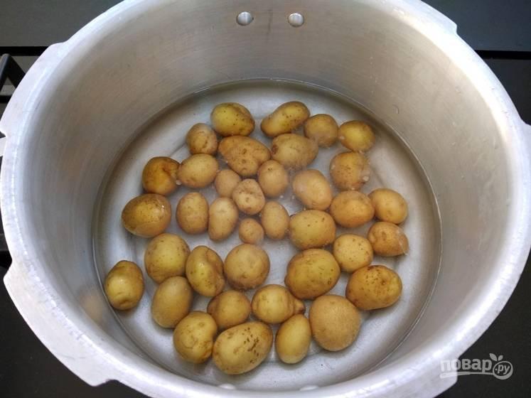 2. Поместите картофель в пароварку, не забыв посолить. Варите картофель до готовности.