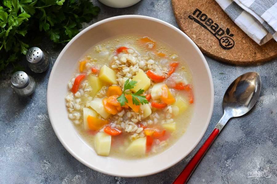 Крестьянский суп с перловкой