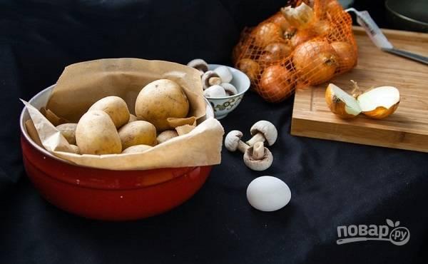 1. Нехитрый и недорогой набор ингредиентов вам потребуется, чтобы сделать зразы с грибами на своей кухне.