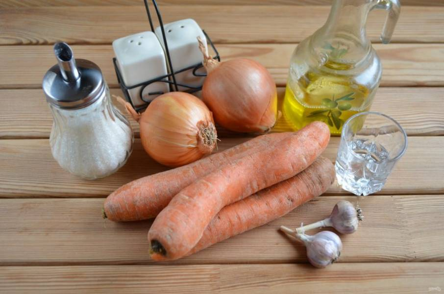 Ингредиенты для морковки по-корейски.