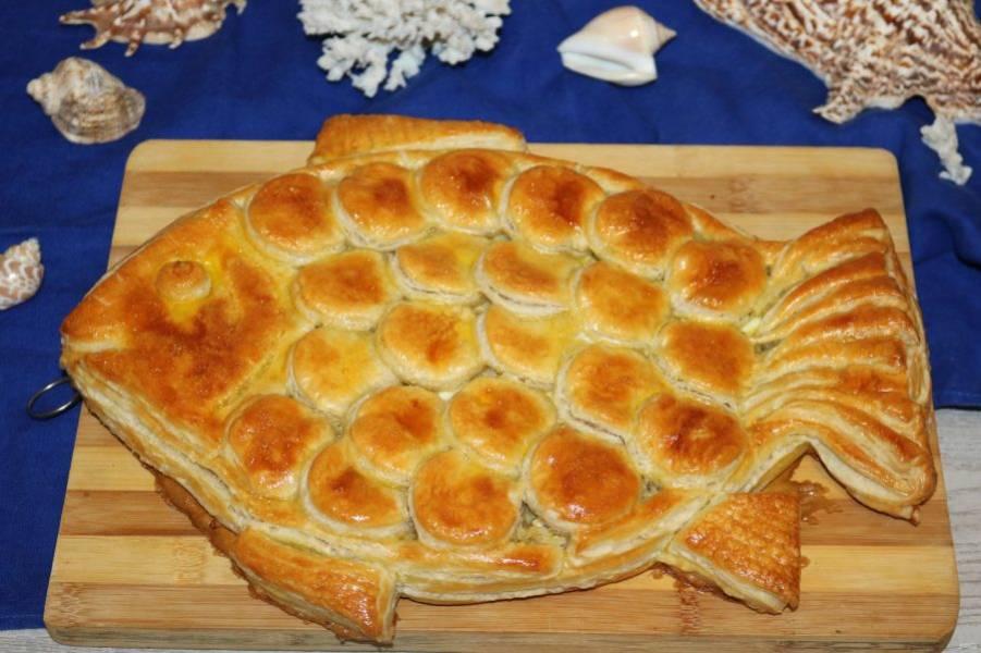 """Пирог """"Золотая рыбка"""" готов."""