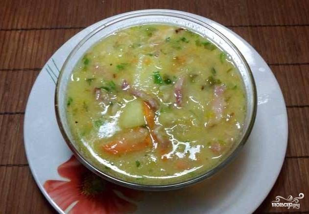 Суп с салом