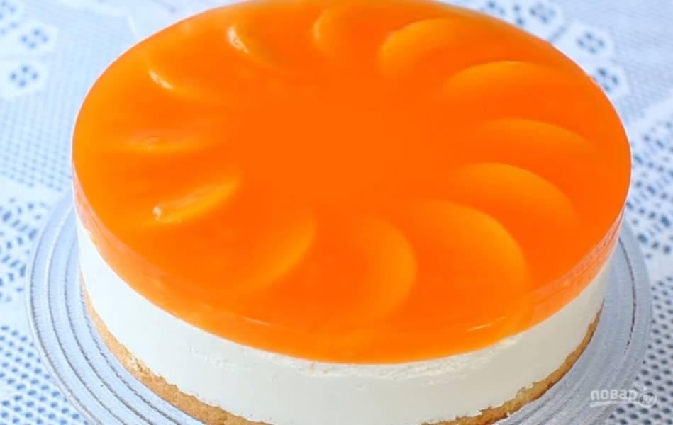 12.Выньте торт из формы. Приятного аппетита!