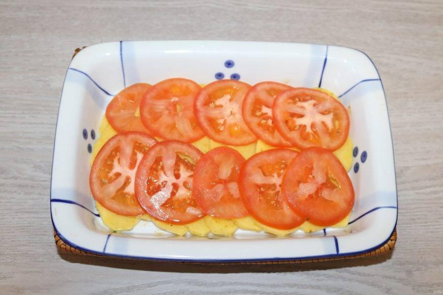 Далее слой помидора.