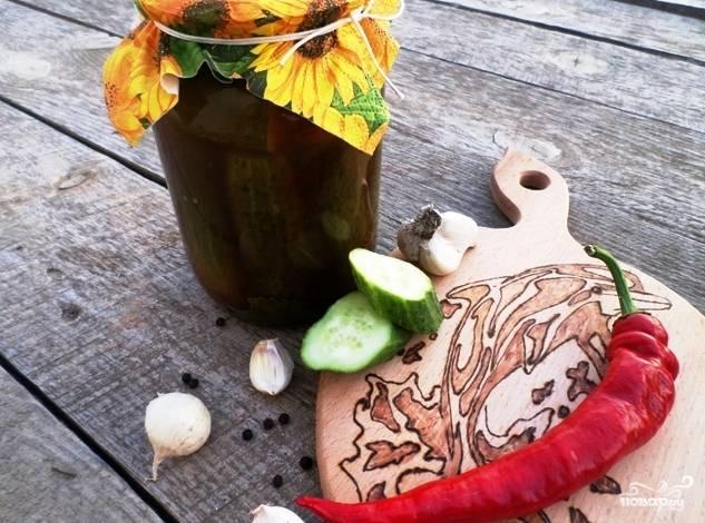 Готовые огурчики с кетчупом на зиму можете хранить в кладовке или в погребе. Приятного аппетита!