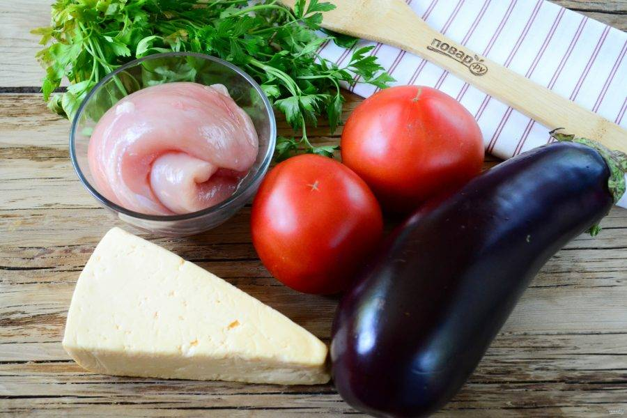 Подготовьте все необходимые ингредиенты. Овощи ополосните в холодной воде.