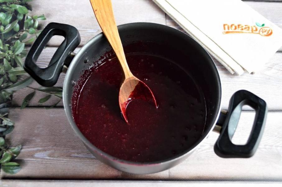 4. Оставьте ягодное пюре остывать.