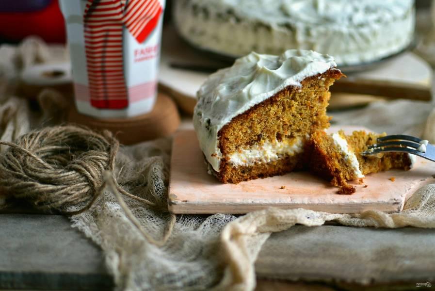 Фантастический пирог с морковью и карамелью
