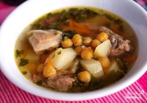 Суп из баранины и нута