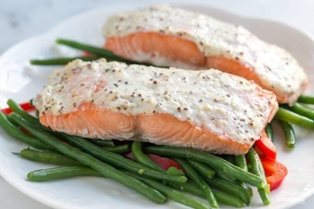 Красная рыба с творожным сыром