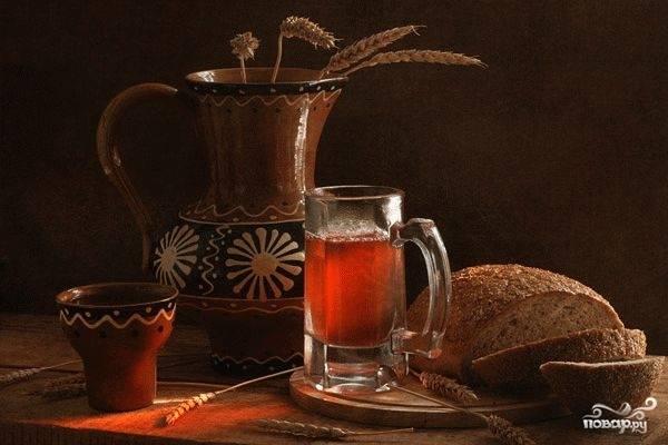 Квас из ржаного хлеба