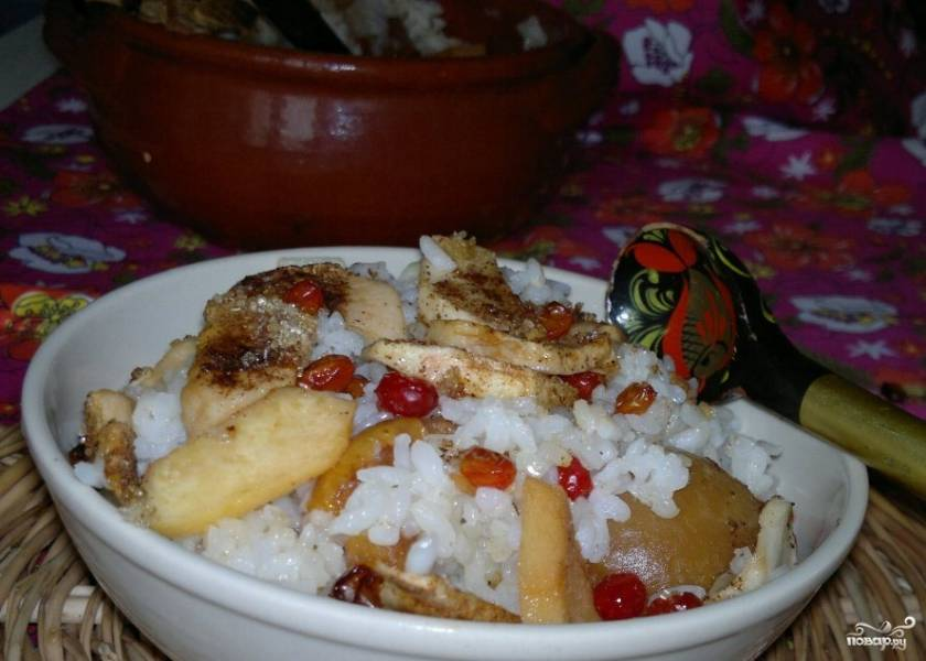 Каша рисовая в духовке