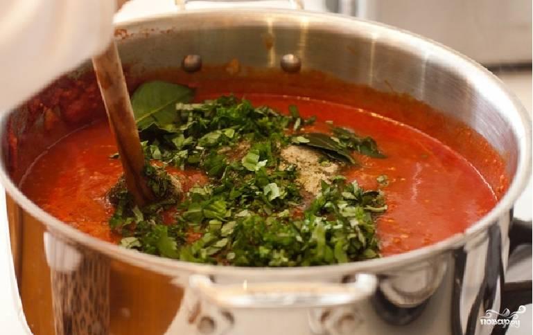 3. Добавим измельченную зелень, прокипятим еще раз, и блюдо можно считать готовым.