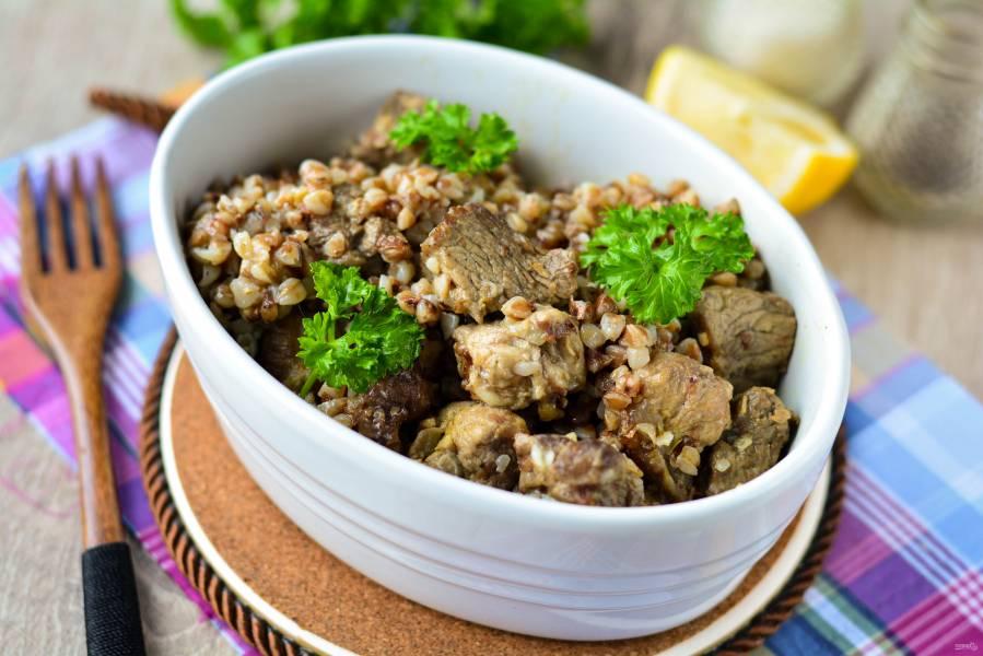 Гречка с мясом «Роскошная»