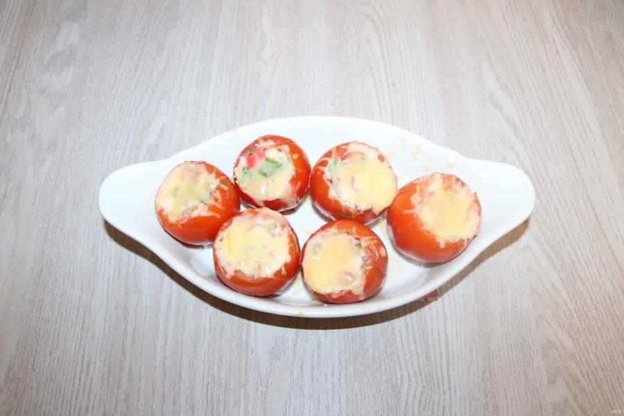 Ароматные помидоры готовы.