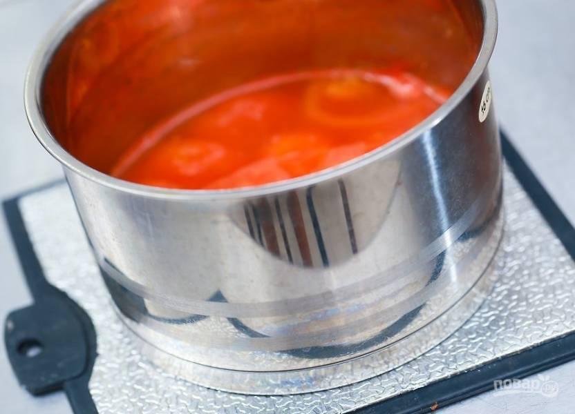 7.Уберите кастрюлю с огня, дайте ей немного остыть.
