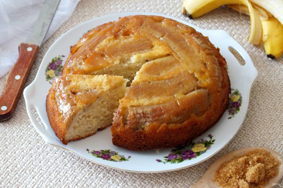 Банановый пирог-перевертыш