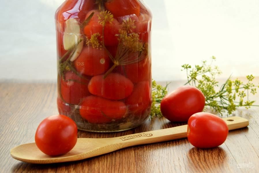 Малосольные помидоры классические