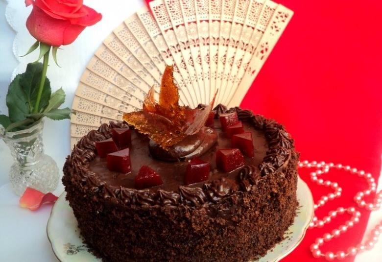 9. Оставим в холодильнике до полного остывания торта, можно под прессом. А потом уже украшаете на свой вкус. Удачи вам!