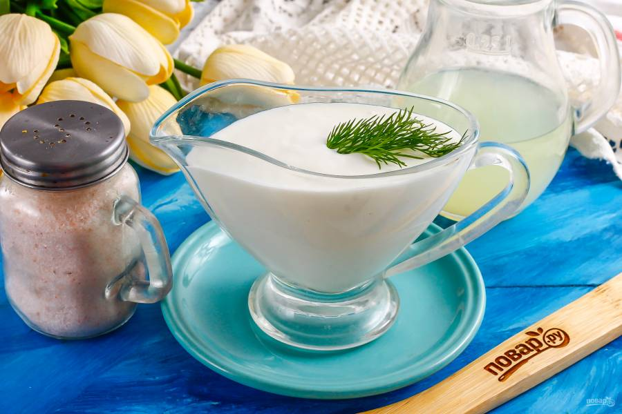 Домашняя сметана из козьего молока