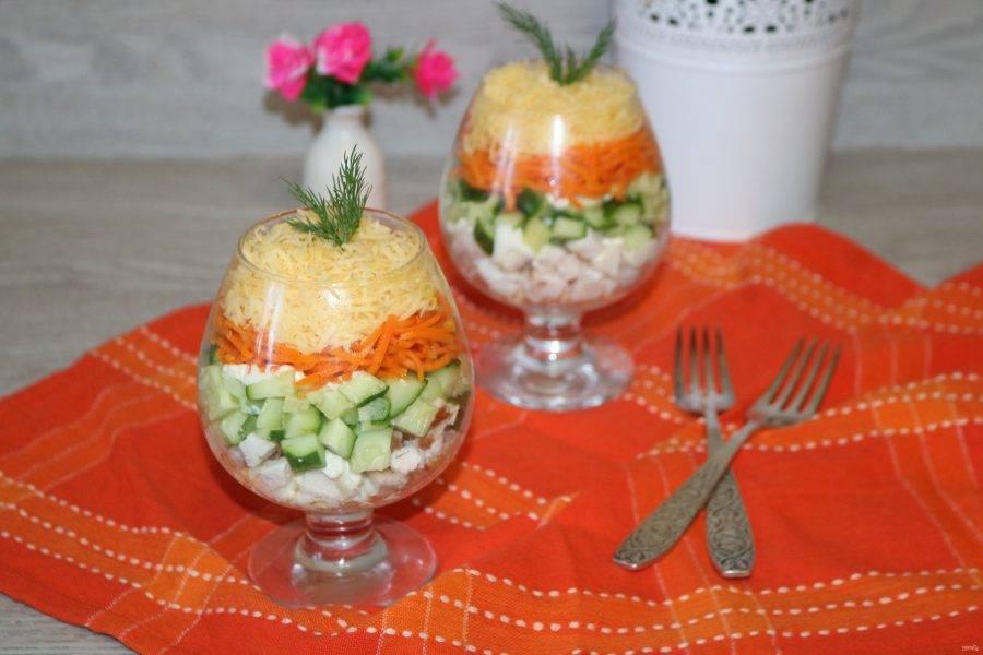 Салат очень нежный и пикантный. Приятного аппетита!