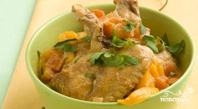 Курица-соте со сладким перцем