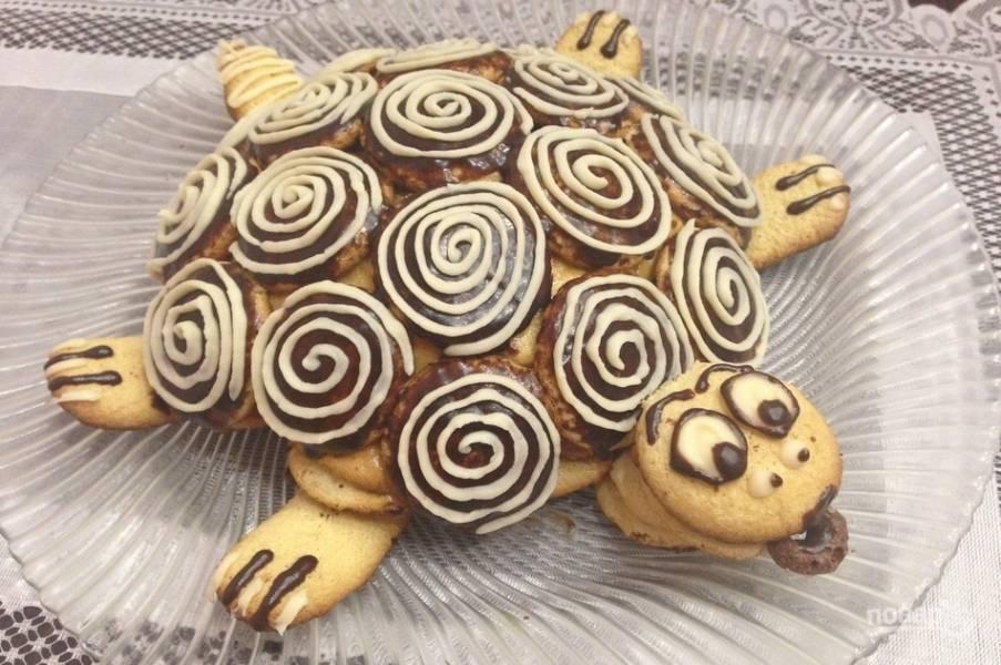 """Торт """"Черепаха"""" простой"""