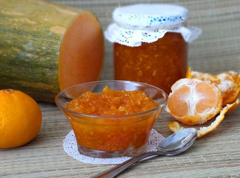 Варенье из тыквы с мандаринами