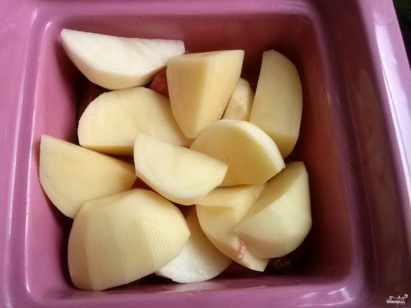 Затем — картофель.