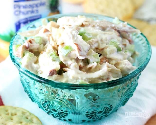 3.Хорошенько перемешиваю салат, отправляю его в холодильник на 15-30 минут. Приятного аппетита!