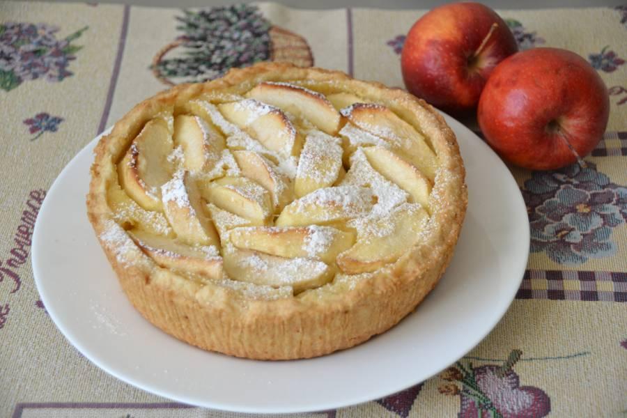 """Пирог """"Яблоки на снегу"""""""