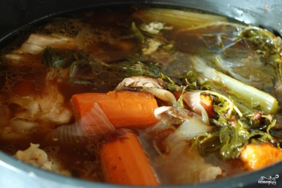Спустя 4 часа суп будет выглядеть примерно таким образом.