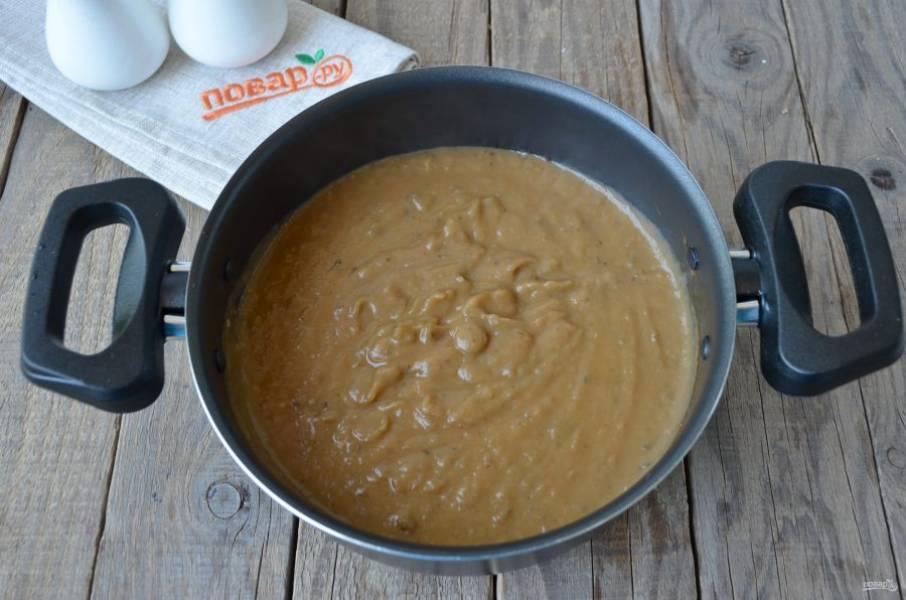 Готовый суп пюрируйте с помощью погружного блендера. Подавайте на стол сразу после приготовления. Приятного аппетита!
