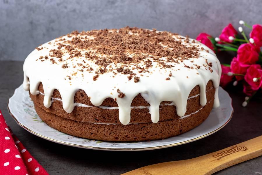 Сметанный шоколадный торт