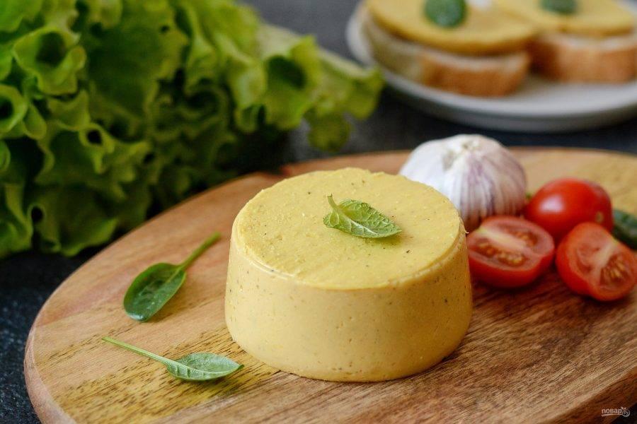 Сыр из нутовой муки готов, приятного аппетита!