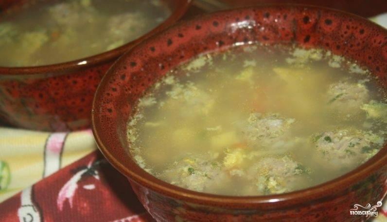 Суп с яйцом и рисом