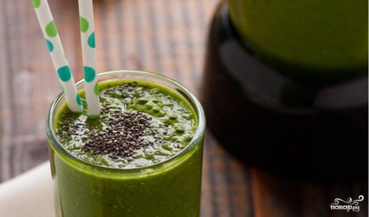 Зеленый коктейль с горохом