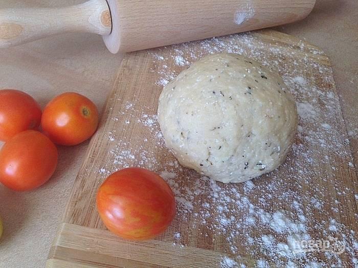 Тесто для пиццы с творогом