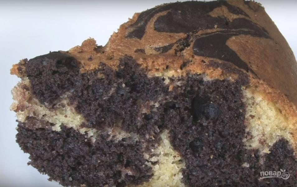Ванильно-мраморный пирог (бисквит)