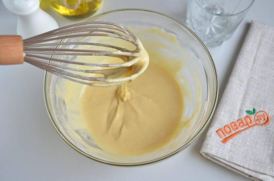 6. Тесто готово, консистенция средней густоты.