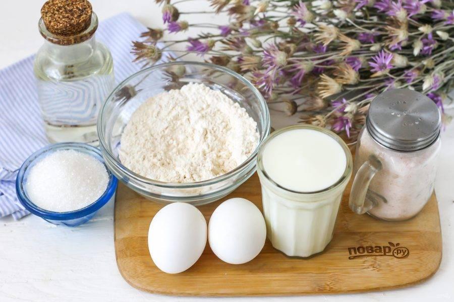 Подготовьте указанные ингредиенты. Если у вас диета не щадящая, то замените сахар медом или сиропом стевии, агавы.