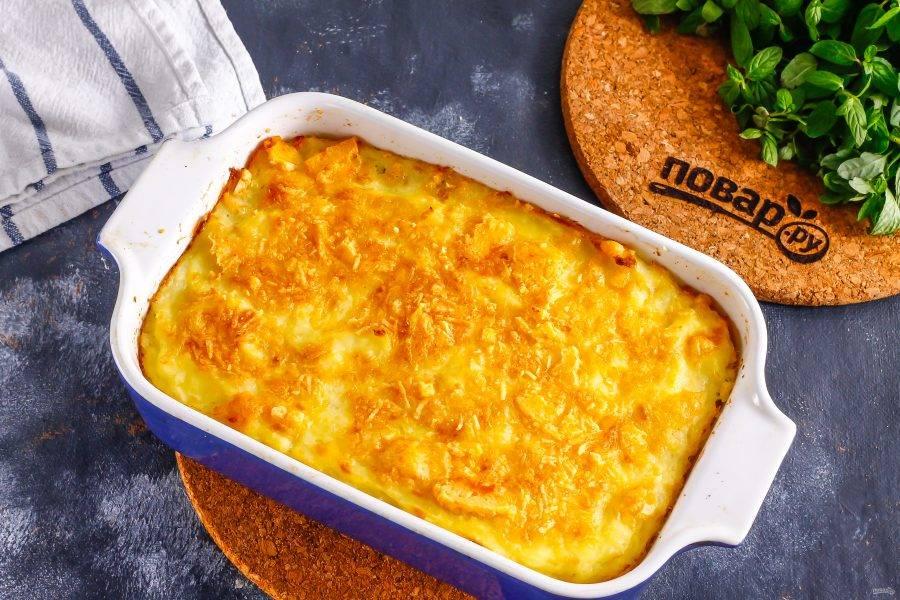 Запеките примерно 15-20 минут до румяности сырной корочки сверху.