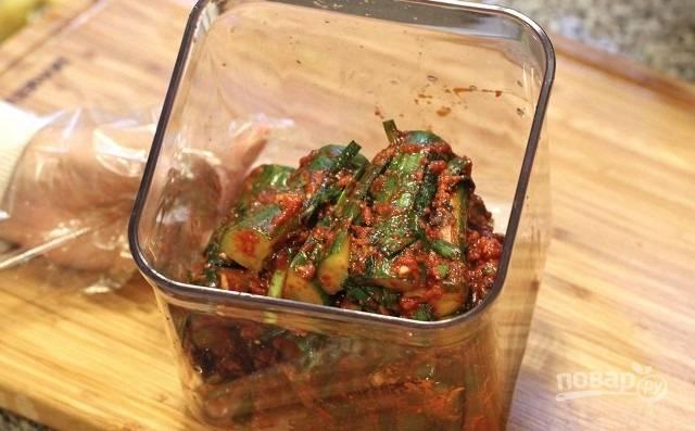 6. Кимчи с огурцом – отличная закуска для всех любителей остренького. Приятного аппетита!