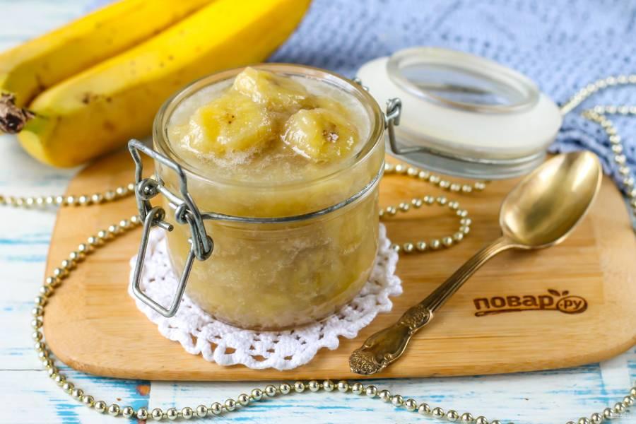 Банановое варенье с лимоном