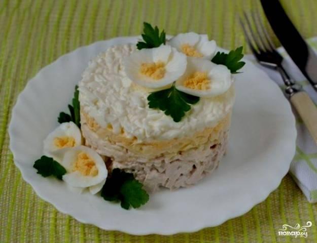 """Салат """"Нежность"""" с сыром"""